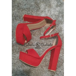 SANDALIA TACON LESLIE RED